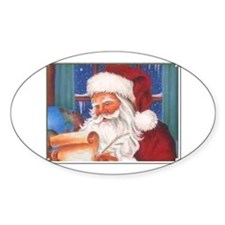 Santa's List Oval Decal