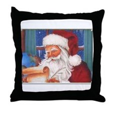 Santa's List Throw Pillow
