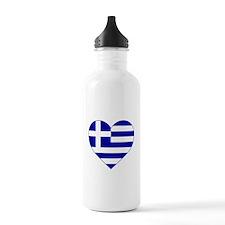 Greece Heart Water Bottle