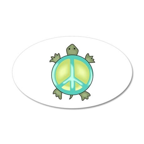 PEACE TURTLE Wall Decal