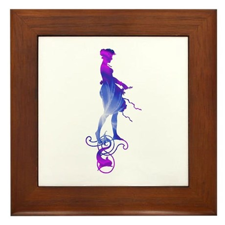 Rainbow Girl Framed Tile