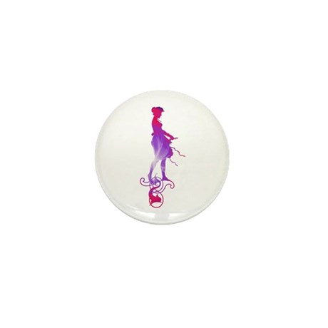 Rainbow Girl Mini Button (100 pack)