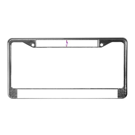 Rainbow Girl License Plate Frame