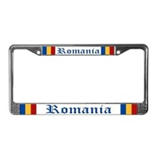 """Romania Flag"" License Plate Frame"