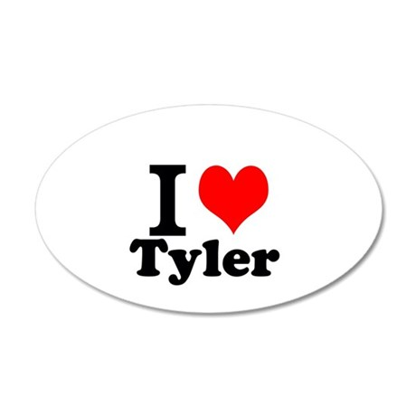 I Love Tyler Wall Decal