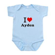 I Love Ayden Body Suit
