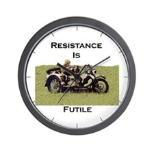 Resistance Is Futile Wall Clock