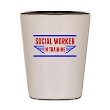 Social Worker In Training Shot Glass