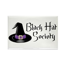 Black Hat Society Rectangle Magnet