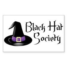 Black Hat Society Rectangle Decal