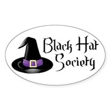 Black Hat Society Oval Decal
