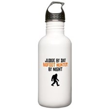 Judge By Day Bigfoot Hunter By Night Water Bottle