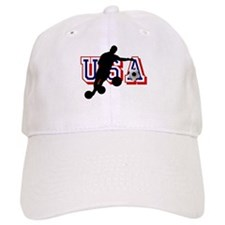 USA Soccer Player Baseball Cap