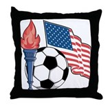 USA Soccer Throw Pillow