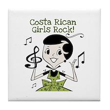 Costa Rican Girls Rock Tile Coaster