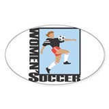 Women's Soccer Oval Decal