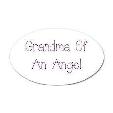 Grandma of an Angel 35x21 Oval Wall Decal
