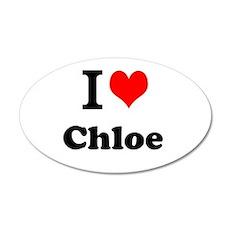 I Love Chloe Wall Decal