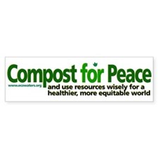 Compost for Peace bumper sticker
