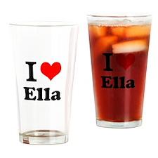 I Love Ella Drinking Glass