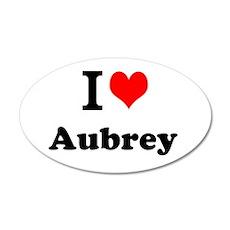 I Love Aubrey Wall Decal