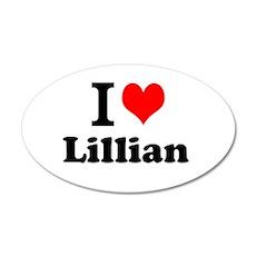 I love Lillian Wall Decal