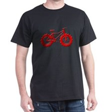 fat tire logo red imbossed T-Shirt