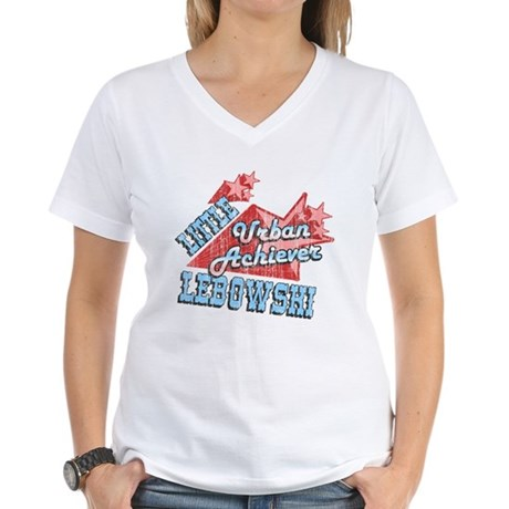 Lebowski Urban Achiever Womens V-Neck T-Shirt