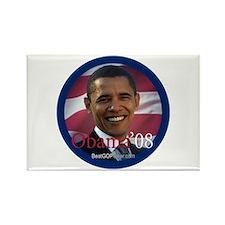 """""""Barack Obama 2008"""" Rectangle Magnet (10)"""
