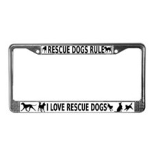 Rescue Dogs Rule License Plate Frame