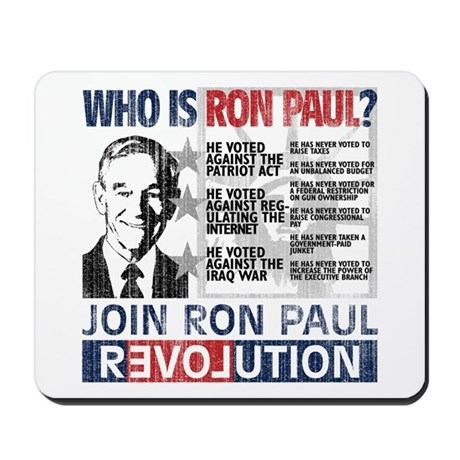 Who is Ron Paul? 'Vintage' Mousepad