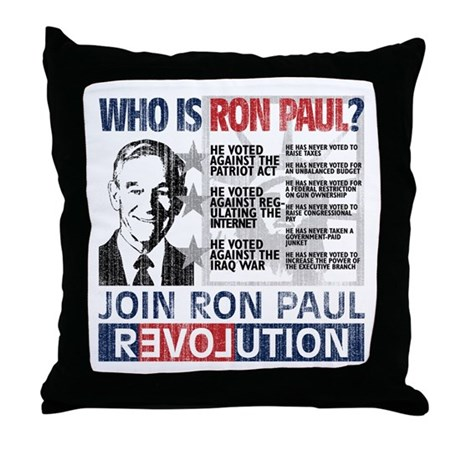 Who is Ron Paul? 'Vintage' Throw Pillow