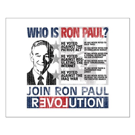 Who is Ron Paul? 'Vintage' Small Poster