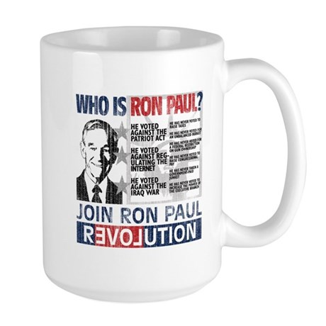 Who is Ron Paul? 'Vintage' Large Mug