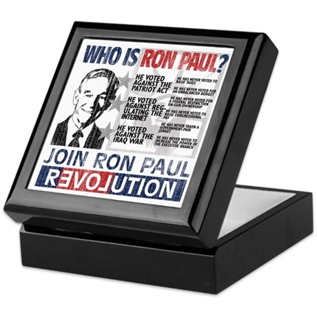 Who is Ron Paul? 'Vintage' Keepsake Box