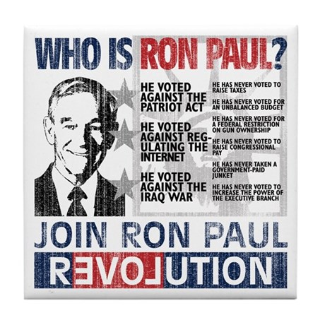 Who is Ron Paul? 'Vintage' Tile Coaster