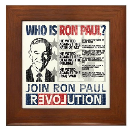 Who is Ron Paul? 'Vintage' Framed Tile