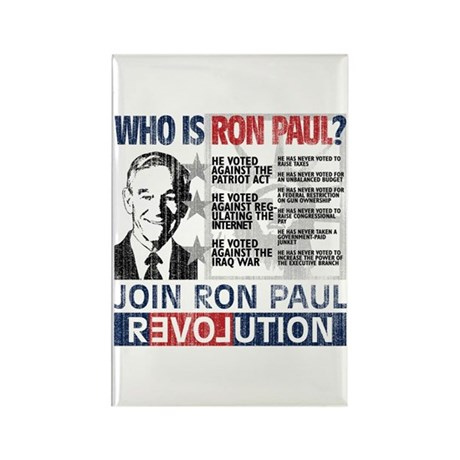 Who is Ron Paul? 'Vintage' Rectangle Magnet (10 pa