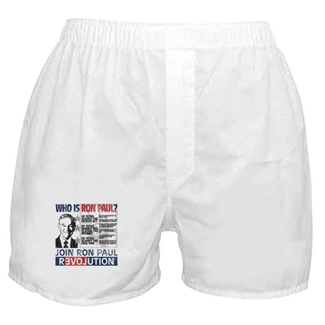 Who is Ron Paul? 'Vintage' Boxer Shorts