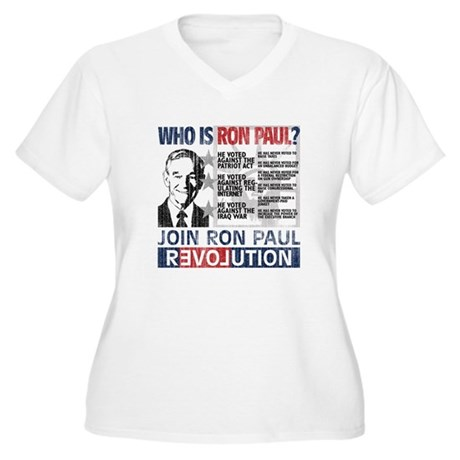 Who is Ron Paul? 'Vintage' Women's Plus Size V-Nec