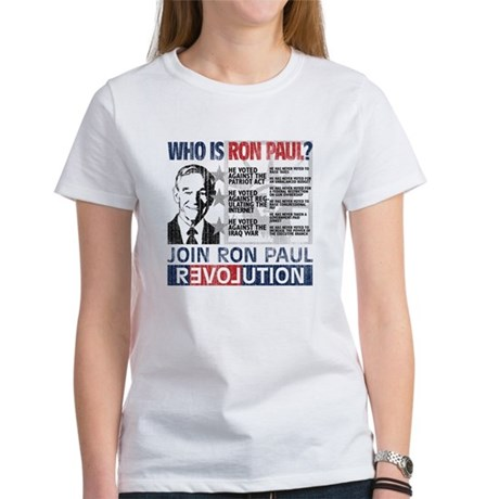 Who is Ron Paul? 'Vintage' Women's T-Shirt