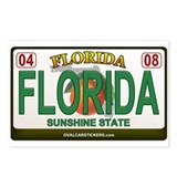 Florida License Plate Postcards (Package of 8)