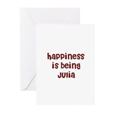happiness is being Julia Greeting Cards (Package o