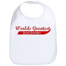 Greatest Great Grandpa (red) Bib
