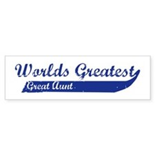 Greatest Great Aunt (blue) Bumper Bumper Sticker