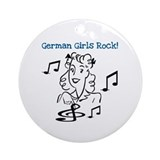 German Girls Rock Ornament (Round)