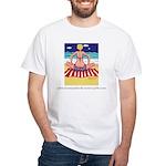 Pondering the Ocean White T-Shirt