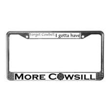More Cowsill Black Logo License Plate Frame