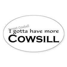 More Cowsill Oval Decal