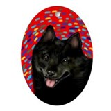 SCHIPPERKE DOG Oval Ornament